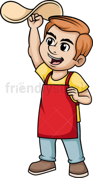 Man tossing pizza dough. PNG - JPG and vector EPS (infinitely scalable). Image isolated on transparent background.