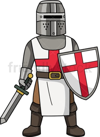 Medieval crusader. PNG - JPG and vector EPS (infinitely scalable).