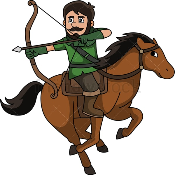 Medieval horse archer. PNG - JPG and vector EPS (infinitely scalable).