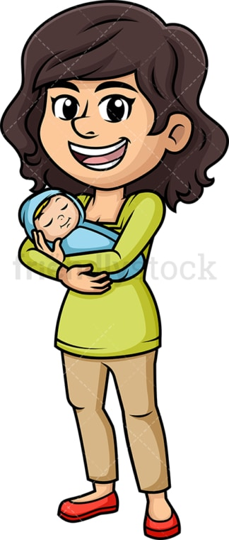 Mother with newborn baby. PNG - JPG and vector EPS (infinitely scalable). Image isolated on transparent background.