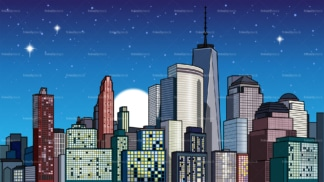 City at night background in 16:9 aspect ratio. PNG - JPG and vector EPS file formats (infinitely scalable).