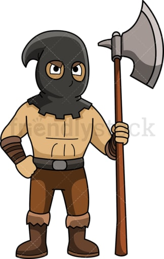 Hooded medieval executioner. PNG - JPG and vector EPS (infinitely scalable).
