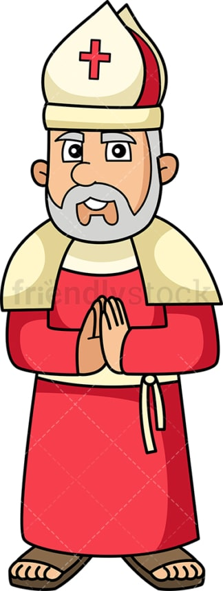 Medieval catholic priest. PNG - JPG and vector EPS (infinitely scalable).