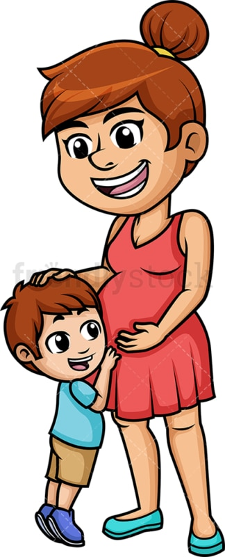 Pregnant mom. PNG - JPG and vector EPS (infinitely scalable). Image isolated on transparent background.
