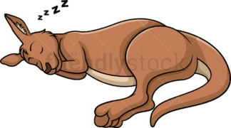 Sleeping kangaroo. PNG - JPG and vector EPS (infinitely scalable).