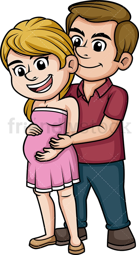 Cute pregnant couple. PNG - JPG and vector EPS (infinitely scalable).