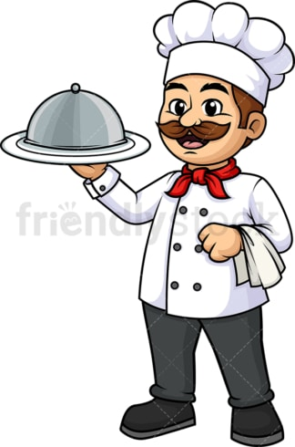 Male chef holding spatula. PNG - JPG and vector EPS (infinitely scalable).