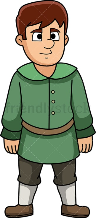 Male medieval villager. PNG - JPG and vector EPS (infinitely scalable).