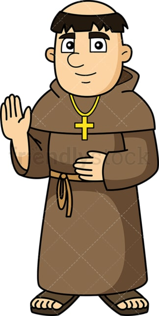 Medieval christian monk. PNG - JPG and vector EPS (infinitely scalable).