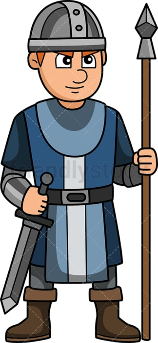 Medieval royal guard. PNG - JPG and vector EPS (infinitely scalable).