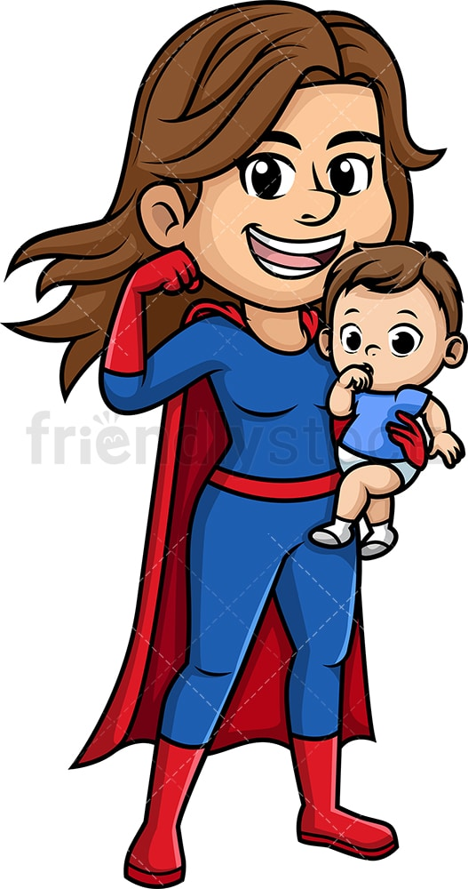 Super mom. PNG - JPG and vector EPS (infinitely scalable). Image isolated on transparent background.