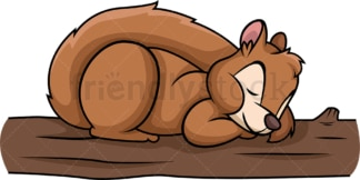 Squirrel sleeping. PNG - JPG and vector EPS (infinitely scalable).