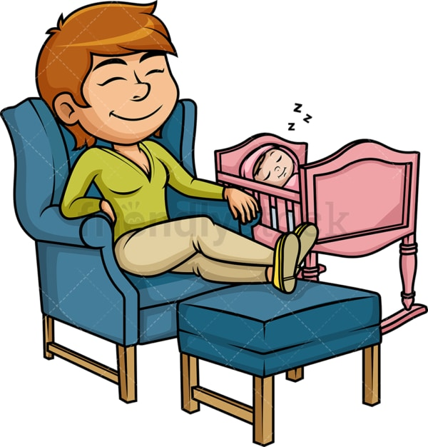 Mom relaxing. PNG - JPG and vector EPS (infinitely scalable). Image isolated on transparent background.