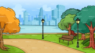City park background in 16:9 aspect ratio. PNG - JPG and vector EPS file formats (infinitely scalable).