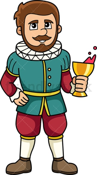 Medieval nobleman. PNG - JPG and vector EPS (infinitely scalable).