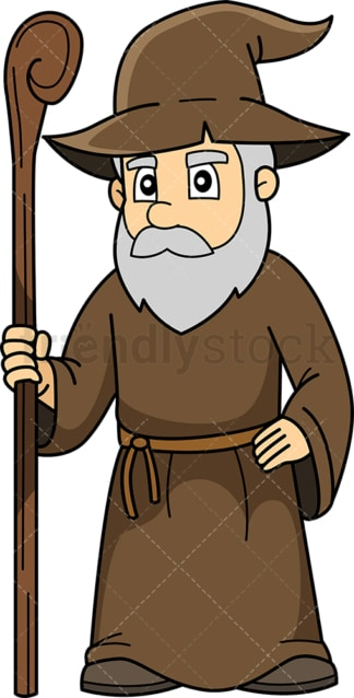 Old wizard. PNG - JPG and vector EPS (infinitely scalable).