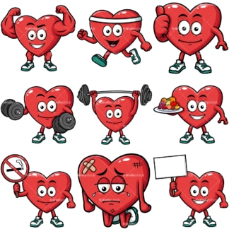 Heart mascot. PNG - JPG and vector EPS file formats (infinitely scalable). Image isolated on transparent background.