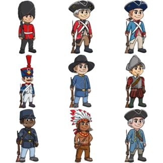 Historical soldiers. PNG - JPG and vector EPS file formats (infinitely scalable).