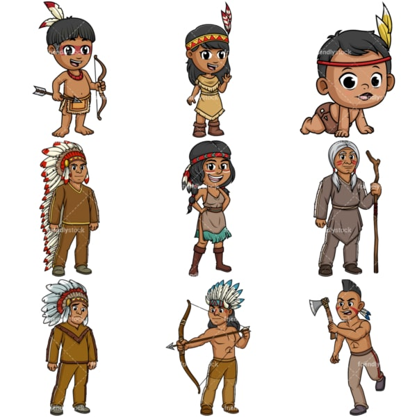 Native american indians. PNG - JPG and vector EPS file formats (infinitely scalable).