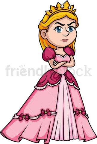 Angry princess. PNG - JPG and vector EPS (infinitely scalable). Image isolated on transparent background.