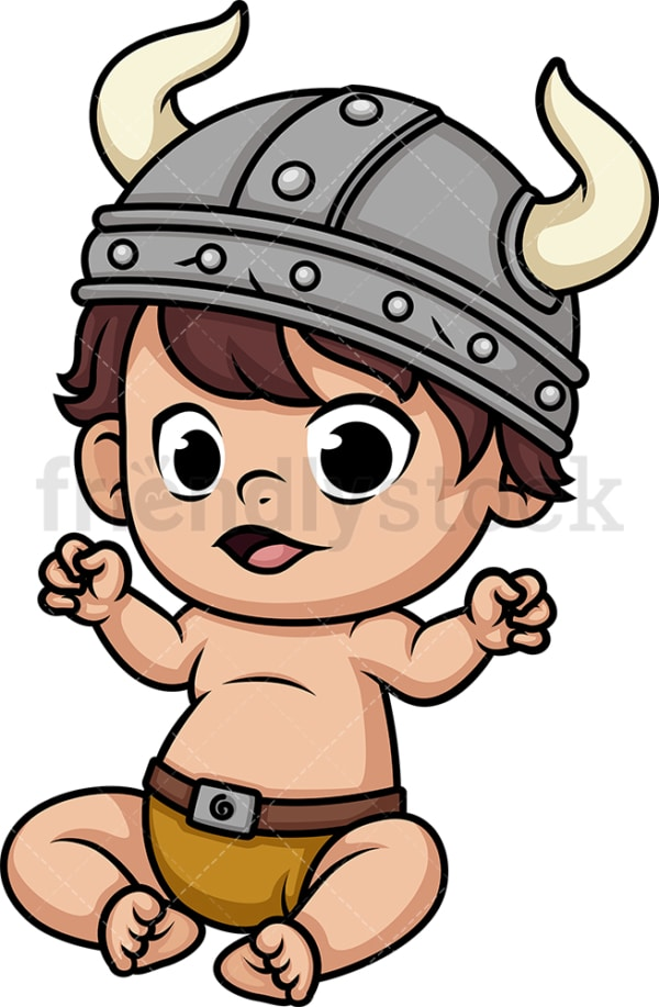 Baby viking. PNG - JPG and vector EPS (infinitely scalable). Image isolated on transparent background.