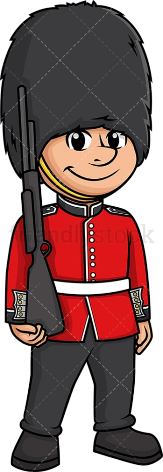British soldier queen's guard. PNG - JPG and vector EPS (infinitely scalable).