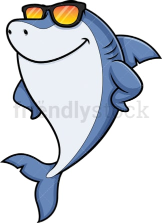 Cool shark. PNG - JPG and vector EPS (infinitely scalable).