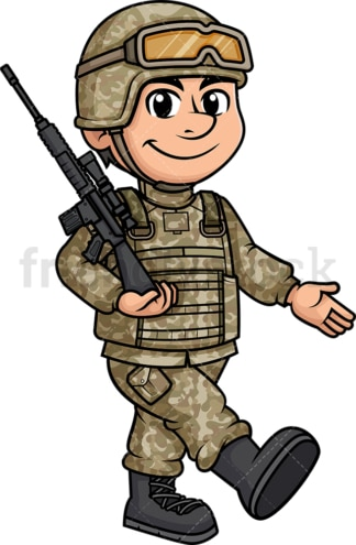 Male soldier marching. PNG - JPG and vector EPS (infinitely scalable). Image isolated on transparent background.
