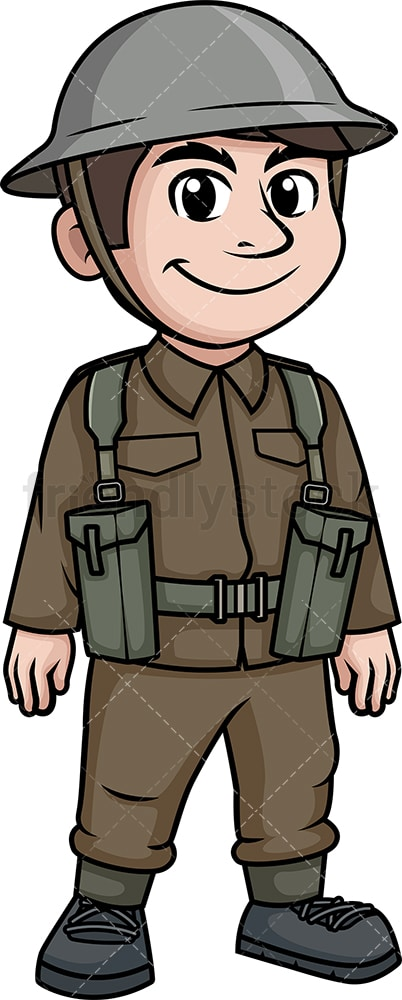 World War 1 British soldier. PNG - JPG and vector EPS (infinitely scalable).