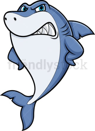 Angry shark. PNG - JPG and vector EPS (infinitely scalable).