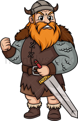 Angry viking. PNG - JPG and vector EPS (infinitely scalable). Image isolated on transparent background.