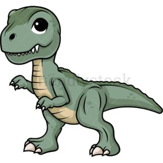 Cute tyrannosaurus rex dinosaur. PNG - JPG and vector EPS (infinitely scalable).