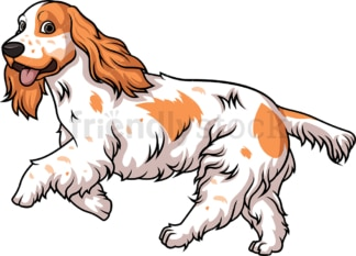 English cocker spaniel running. PNG - JPG and vector EPS (infinitely scalable).