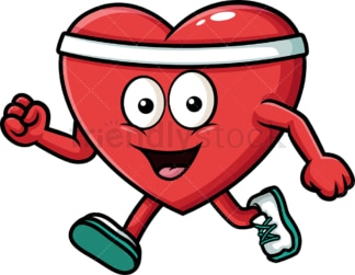Healthy heart exercising. PNG - JPG and vector EPS (infinitely scalable). Image isolated on transparent background.