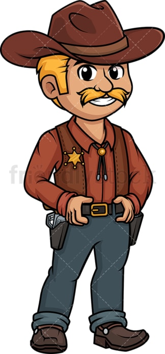 Wild west sheriff. PNG - JPG and vector EPS (infinitely scalable).