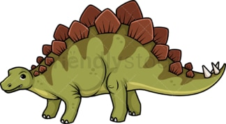 Cute stegosaurus dinosaur. PNG - JPG and vector EPS (infinitely scalable).