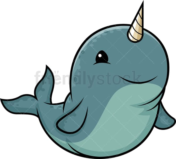 Fat narwhal. PNG - JPG and vector EPS (infinitely scalable).