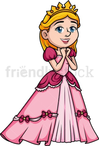 Happy princess. PNG - JPG and vector EPS (infinitely scalable). Image isolated on transparent background.