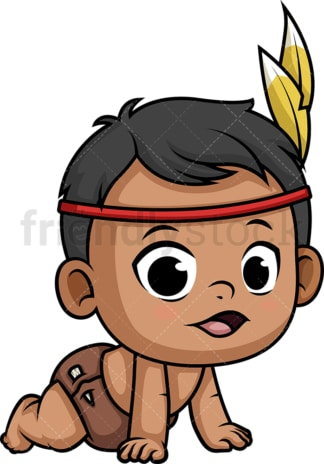 Native american indian baby. PNG - JPG and vector EPS (infinitely scalable).