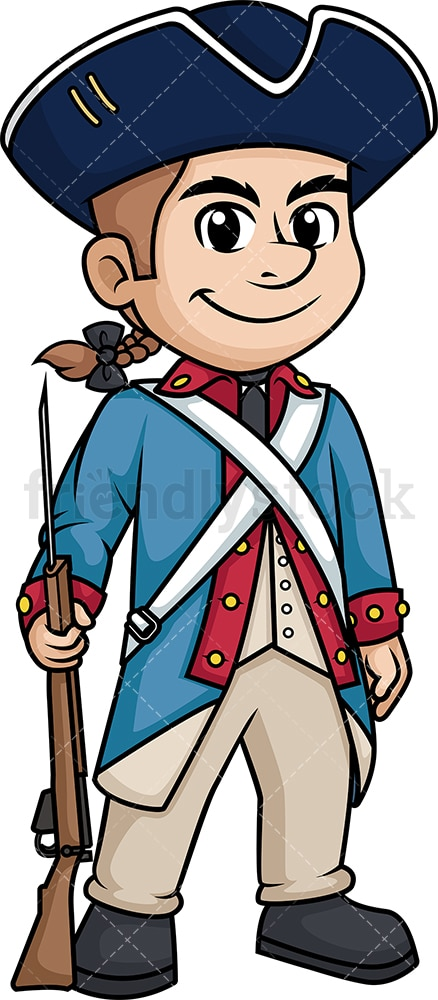 Revolutionary war american soldier. PNG - JPG and vector EPS (infinitely scalable).