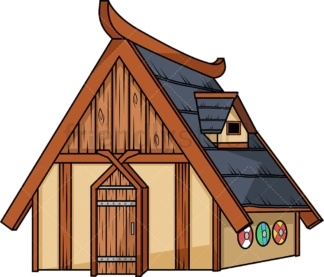Viking house. PNG - JPG and vector EPS (infinitely scalable). Image isolated on transparent background.