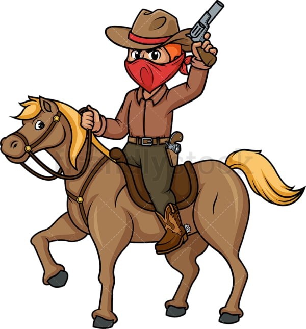 Cowboy riding horse. PNG - JPG and vector EPS (infinitely scalable).