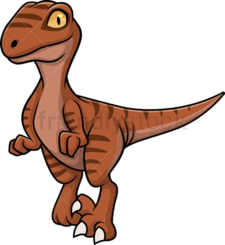 Cute velociraptor dinosaur. PNG - JPG and vector EPS (infinitely scalable).