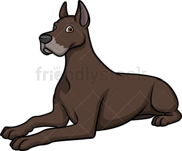 Great dane lying down. PNG - JPG and vector EPS (infinitely scalable).