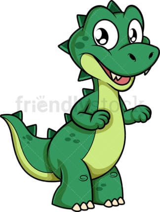 Happy green dinosaur. PNG - JPG and vector EPS (infinitely scalable).