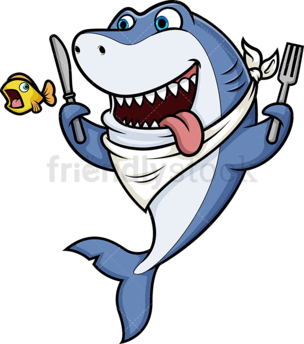 Hungry shark. PNG - JPG and vector EPS (infinitely scalable).