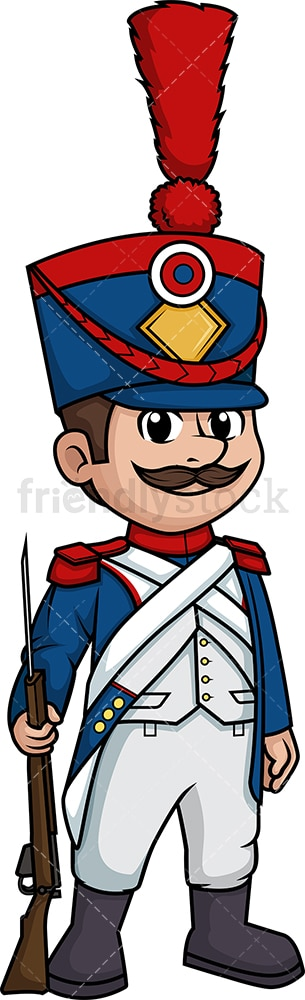 Napoleonic era french soldier. PNG - JPG and vector EPS (infinitely scalable).