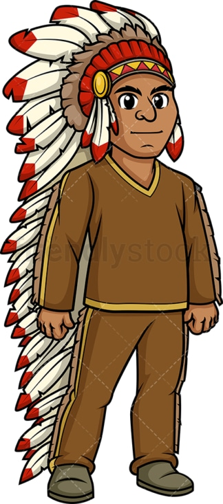 Native american indian chief. PNG - JPG and vector EPS (infinitely scalable).
