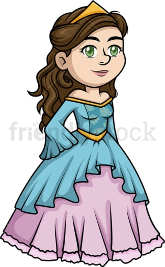 Pretty princess. PNG - JPG and vector EPS (infinitely scalable).