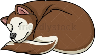 Alaskan malamute sleeping. PNG - JPG and vector EPS (infinitely scalable).